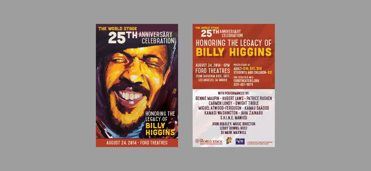 The World Stage 25th Anniversary Celebration Flyers